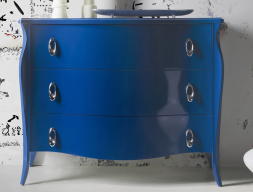 Lacquered chest of drawers. Mod. BLUE FRIDA