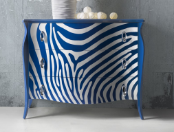 Lacquered chest of drawers. Mod. FRIDA ZEBRA