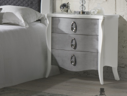 Lacquered bedside tables - set of 2 units. Mod: FRIDA PL