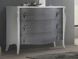 Lacquered chest of drawers. Mod. FRIDA PL