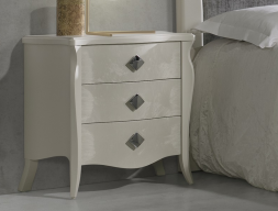 Lacquered bedside tables - set of 2 units. Mod: FRIDA CR