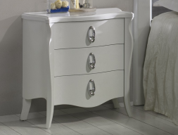 Lacquered bedside tables - set of 2 units. Mod: FRIDA