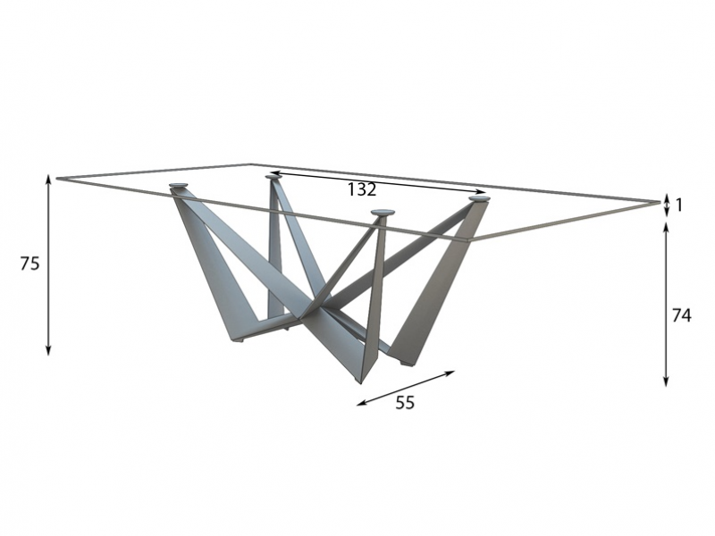 Fix dining table with tempered glass top Mod LOIRE : 4180 4 big from www.luxurylofteurope.com size 800 x 600 png 217kB