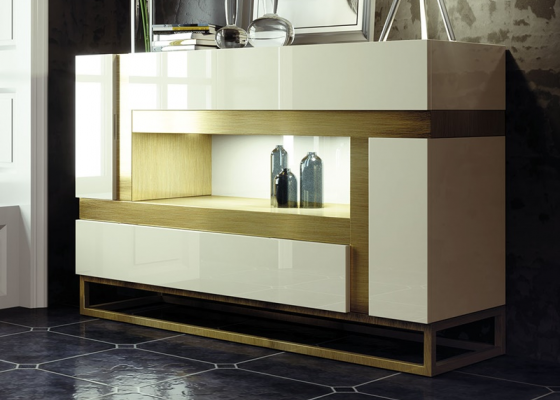 Lacquered sideboard. Mod. LENNA