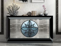 Lacquered sideboard. Mod. SERIK
