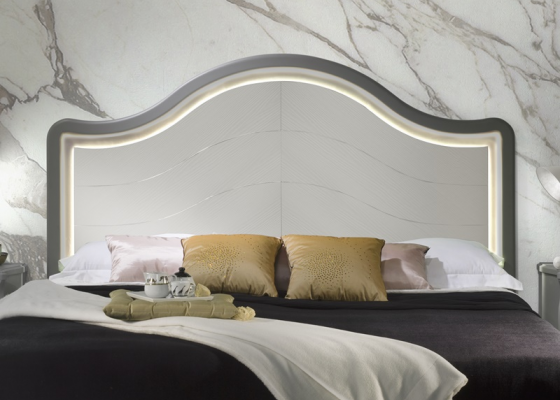 Lacquered headboard with light. Mod. CORAL LUZ