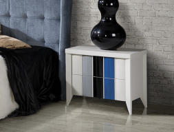 Lacquered bedside tables - set of 2 units. Mod: VIENA