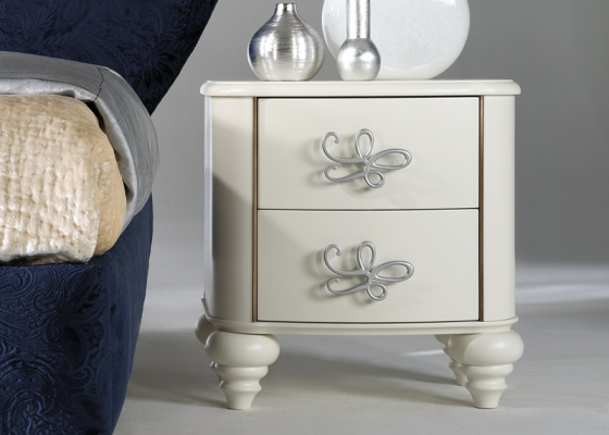 Lacquered bedside tables - set of 2 units. Mod: SYROS