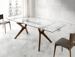 Extendable dining table. Mod. LIN