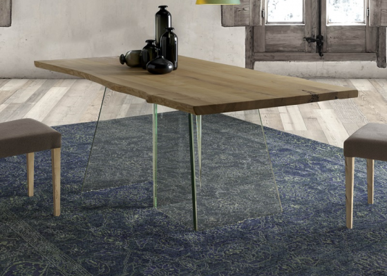 Fix dining table with wood top. Mod.  LIGIA
