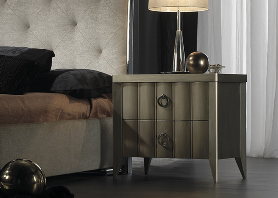 Lacquered bedside tables - set of 2 units. Mod: VIENA CH