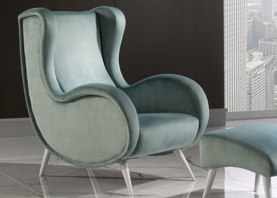 Upholstered armchair. Mod: LIVORNO