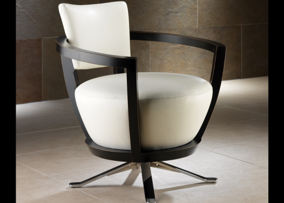 Rotating armchair. Mod: DA VINCI