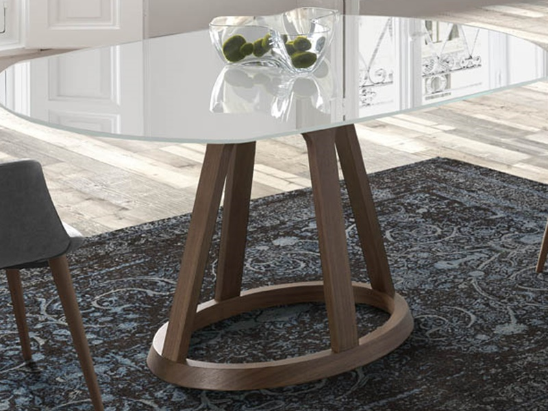 Extendable dining table. Mod. JESCA
