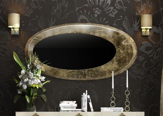 Oval mirror. Mod. EIFFEL CV