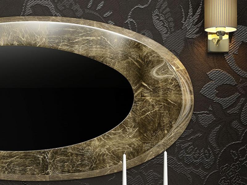 Oval mirror. Mod. EIFFEL PL
