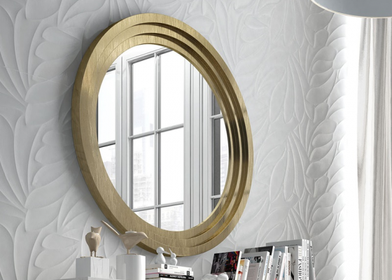 Round  mirror. Mod. ZIG