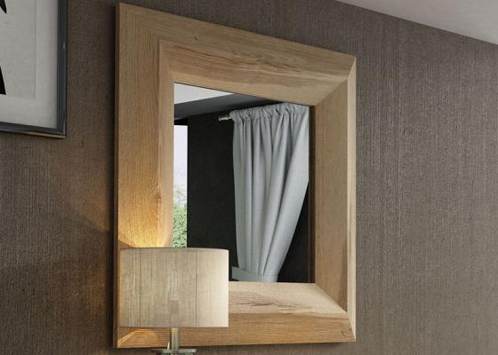 Square mirror. Mod: MASSIF