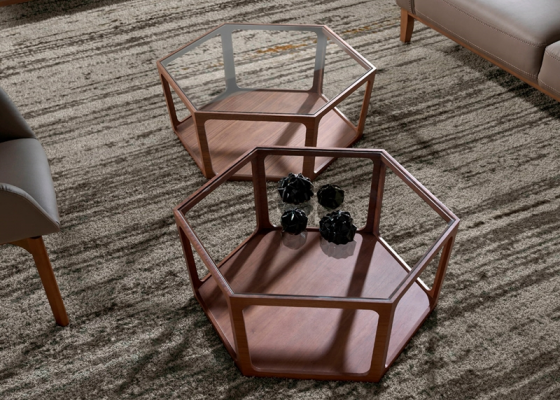 Low table. Mod. HEXA