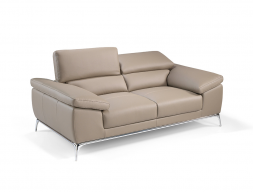 2 seater sofa upholstered with leather. Mod. MIA 2P