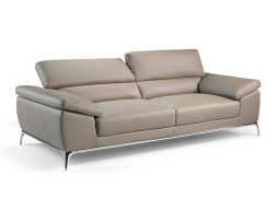 3 seater sofa upholstered with leather. Mod. MIA 3P