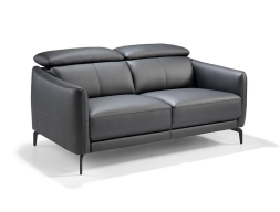 2 seater sofa upholstered with leather. Mod. CAELI 2P