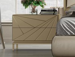 Lacquered bedside tables - set of 2 units. Mod. KARMEN