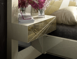 1 drawer lacquered bedside tables - set of 2 units. Mod: LUXURY