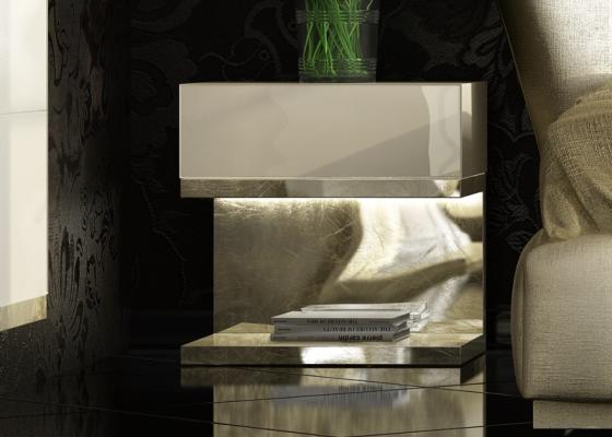 1 drawer bedside tables - set of 2 units. Mod: ZARAH