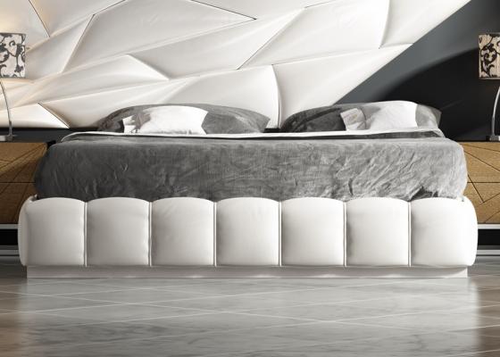 Base de cama tapizada. Mod: LINDE