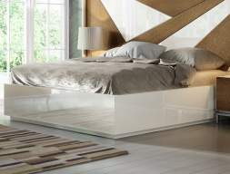 Lacquered frame bed. Mod: IKU XXL