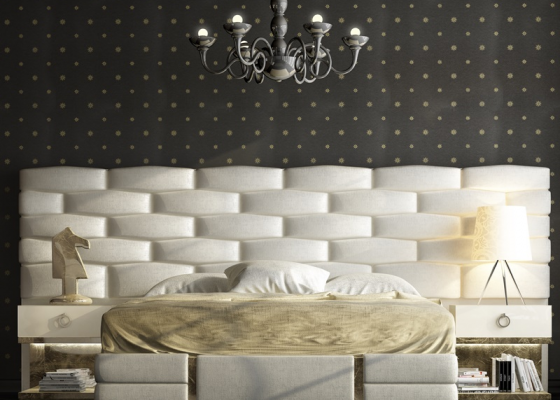 Upholstered large headboard. Mod. VERDI