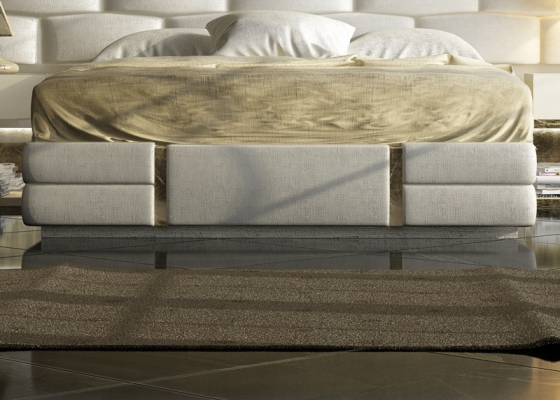 Base de cama tapizada . Mod: VERDI