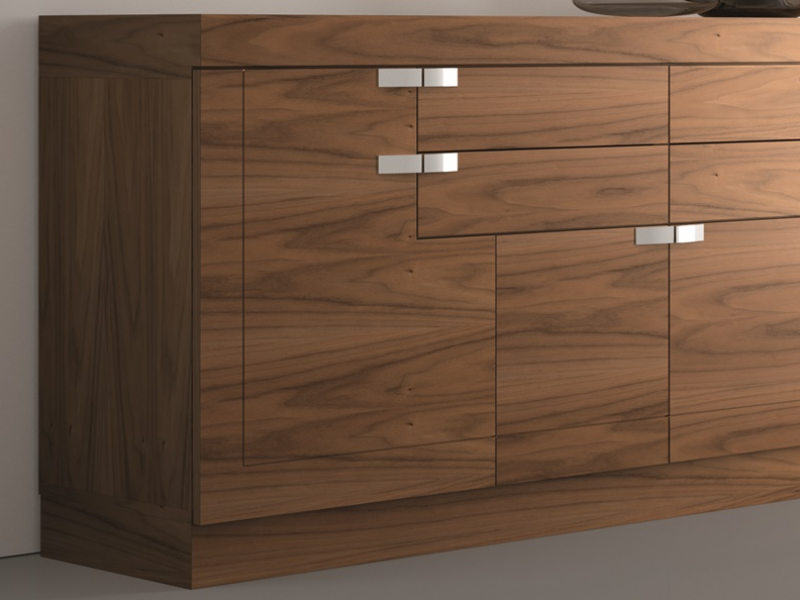 Sideboard with 4 doors and drawers.  Mod. NAIM