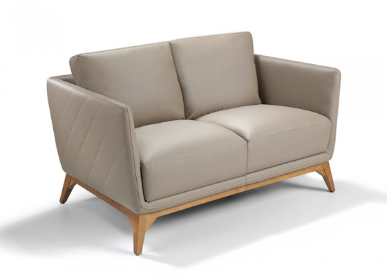 2 seater sofa upholstered with leather. Mod. ANTONELLA 2P