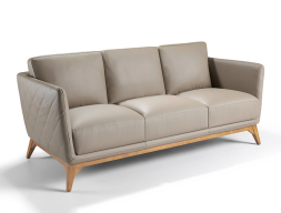 3 seater sofa upholstered with leather. Mod. ANTONELLA 3P