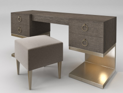 Oak vanity table. Mod.  ZARAH ROBLE