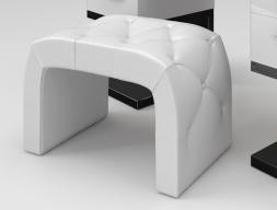 Upholstered curved bench. Mod. ZARAH