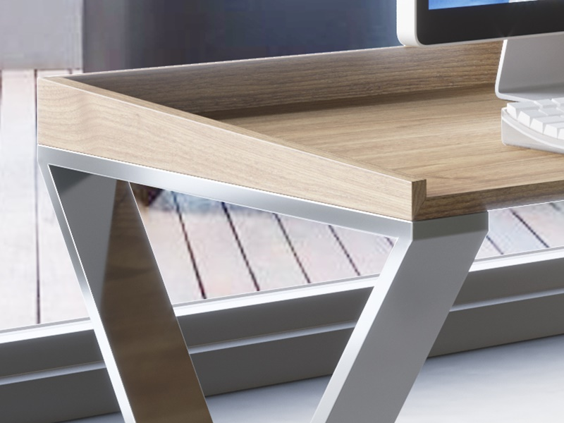 Writing desk with one drawer. Mod. EKIS