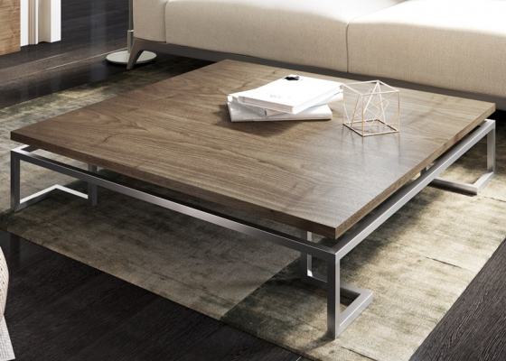 American walnut low table. Mod. LAGO