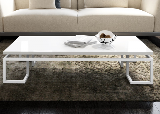 Lacquered low table. Mod. LACQUERED LAGO