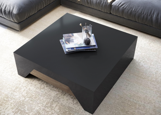 Lacquered low table. Mod. DIAGONAL