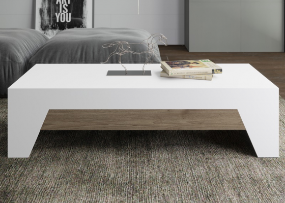 Lift top low table. Mod. DIAGONAL