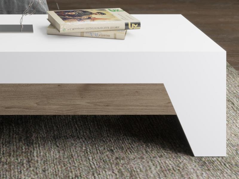 Lift top low table. Mod. DIAGONAL