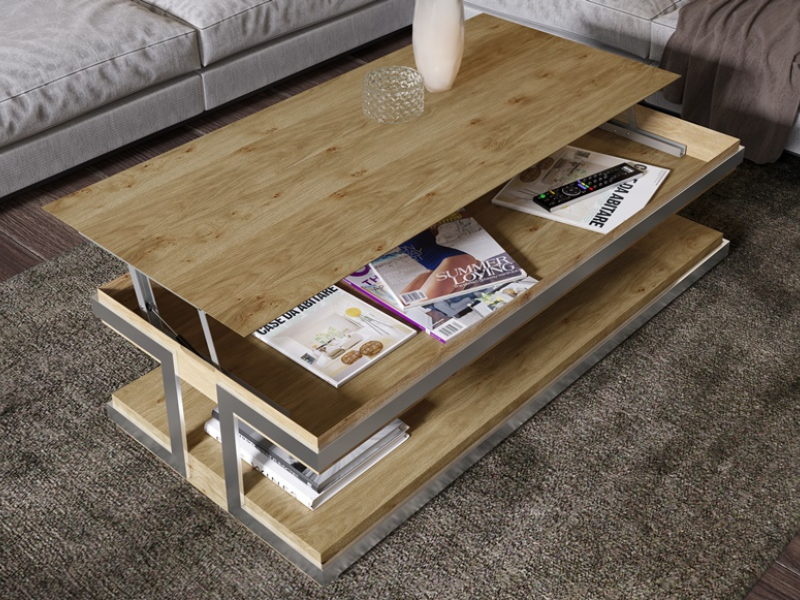 Lacquered lift top low table. Mod. ABRACCIO LACQUERED LIFT TOP