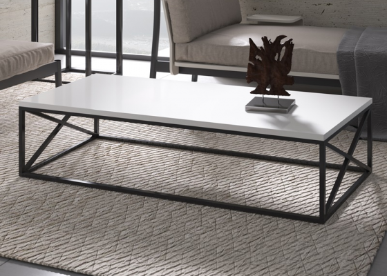 Lacquered steel low table. Mod. RUSTY RCT