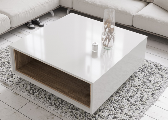 Lacquered low table. Mod. DOLLY