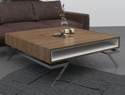 Chrome low table. Mod. DOKI