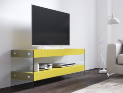 Lacquered TV stand. Mod. LAXY