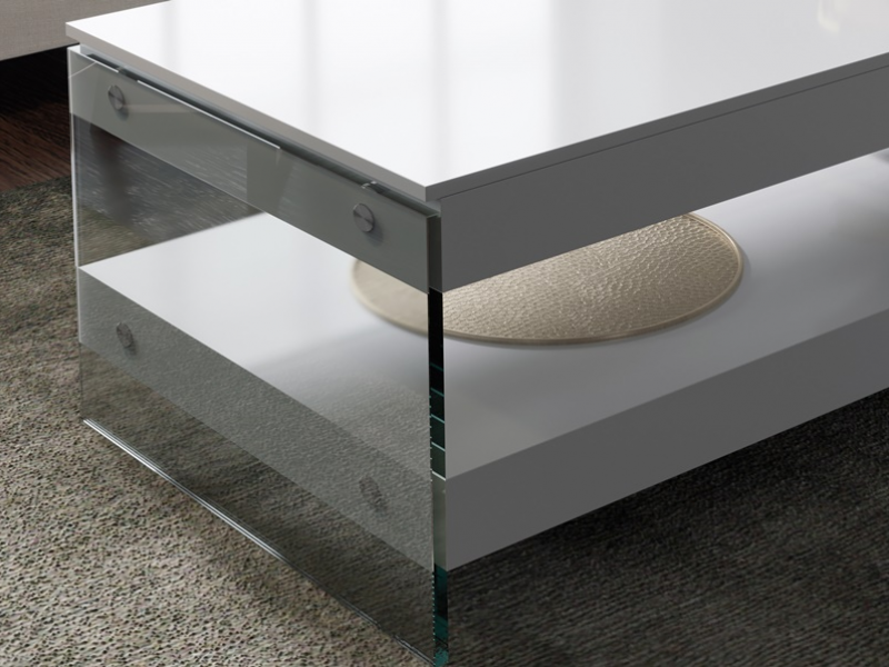 Lift top low table. Mod. MIAD LIFT TOP